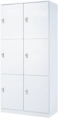 内田洋行 ハイパーストレージ パーソナルロッカー大容量タイプ HS-6 PL 投函口なし 内筒交換錠 6人用 W900×D450×H1800mm