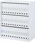 内田洋行 ハイパーストレージ スタンダードタイプ オープン書庫 HS O-10(B) 3段 上下共通用 W900×D400×H1050