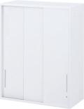 内田洋行 ハイパーストレージ スタンダードタイプ スチール3枚引き違い書庫 HS STH-12U(B) 4段 上置き用 W900×D400×H1200