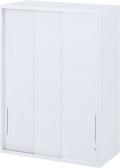内田洋行 ハイパーストレージ スタンダードタイプ スチール3枚引き違い書庫 HS800 STH-12U(C) 4段 上置き用 W800×D450×H1200