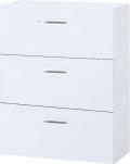 内田洋行 ハイパーストレージ スタンダードタイプ ラテラルキャビネット(一括施錠) HS800 LA-10(B) 3段 W800×D400×H1050