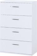 内田洋行 ハイパーストレージ スタンダードタイプ ラテラルキャビネット(一括施錠) HS800 LA4-12(B) 4段 W800×D400×H1200