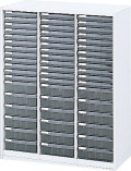 内田洋行 ハイパーストレージ スタンダードタイプ スモークトレーキャビネット A4 浅・深型タテ 浅36個、深18個 HS800 TCAF-10(B) W800×D400×H1050