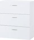 内田洋行 ハイパーストレージ スタンダードタイプ ラテラルキャビネット(一括施錠) HS LA-10(B) 3段 W900×D400×H1050