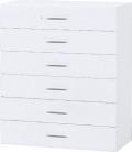 内田洋行 ハイパーストレージ スタンダードタイプ ラテラルキャビネット(一括施錠) HS LD-10(C) 6段 W900×D450×H1050