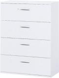 内田洋行 ハイパーストレージ スタンダードタイプ ラテラルキャビネット(一括施錠) HS LA4-12(B) 4段 W900×D400×H1200