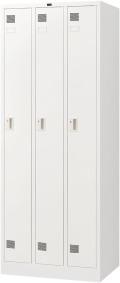 内田洋行 システムロッカーNS型 スタンダードタイプ細形 3人用(S) 内筒交換錠 ホワイト色 W681×D515×H1790mm