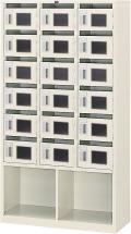 内田洋行 メールボックス 3列6段18人用 鍵無し W900×D380×H1669mm