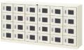 内田洋行 シューズロッカー 6列4段24人用 鍵付き・中棚板なし W1755×D380×H880mm