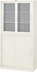 内田洋行 引違い書庫 3×6W型 棚板4枚 W880×D400×H1790mm