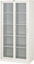 内田洋行 引違い書庫 3×6型 ガラス戸 JIS1号 棚板4枚 W880×D400×H1790mm