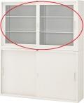 内田洋行 引違い書庫 5×3型 ガラス戸 棚板2枚 W1500×D400×H880mm