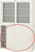 内田洋行 引違い書庫 4×3型 鋼板戸 棚板2枚 W1200×D400×H880mm