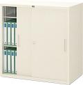 内田洋行 引違い書庫 3S型 鋼板戸 棚板2枚 W880×D515×H880mm