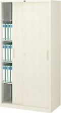内田洋行 引違い書庫 3×6型 鋼板戸 棚板4枚 W880×D515×H1790mm