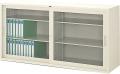 内田洋行 引違い書庫 6G型 ガラス戸 棚板4枚 W1760×D515×H880mm