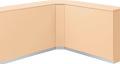 内田洋行 VISIT-Forest インフォメーションカウンター FKB-90 内コーナー/KB型 W483×D483×H950mm