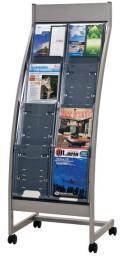 生興 カタログスタンド PSR-C204 A4判2列4段 全面表示型タイプ