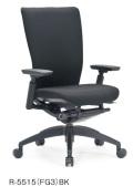 アイコ オフィスチェア R-5515(FG3) 布張りミドルバック 樹脂脚 肘付タイプ