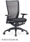 アイコ オフィスチェア R-5615(FG3) 樹脂バック ミドルバック 樹脂脚 肘付タイプ