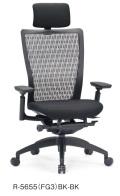 アイコ オフィスチェア R-5655(FG3) 樹脂バック ハイバック 樹脂脚 肘付タイプ