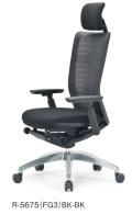 アイコ オフィスチェア R-5675(FG3) 樹脂バック ハイバック アルミ脚 肘付タイプ
