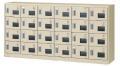 生興 SLCシューズボックス SLC-24YW 6列4段24人用 錠付 アクリル窓付タイプ