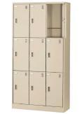 生興 SLCシューズボックス SLC-D9T 3列3段9人用(奥深) 錠付 窓無タイプ