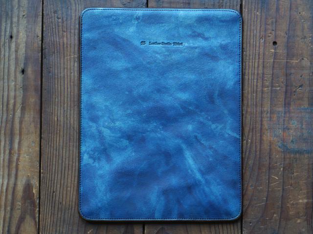 福山レザー【iPadケース】濃藍