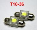 ●24Vルームランプ1W白LED球 T10×36交換用 2個セット