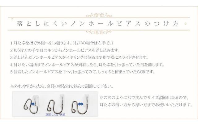 【チタンアクセサリー レジエ】オリジナルノンホールピアス