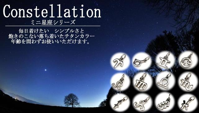 【チタンアクセサリー レジエ】チタンペンダントトップ mini星座