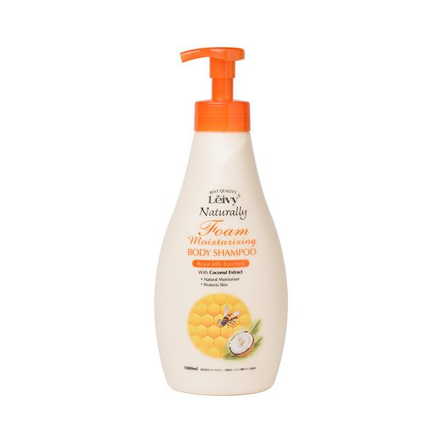 泡で出るタイプ。美容成分ローヤルゼリー配合でお肌にハリ・ツヤを与えます。