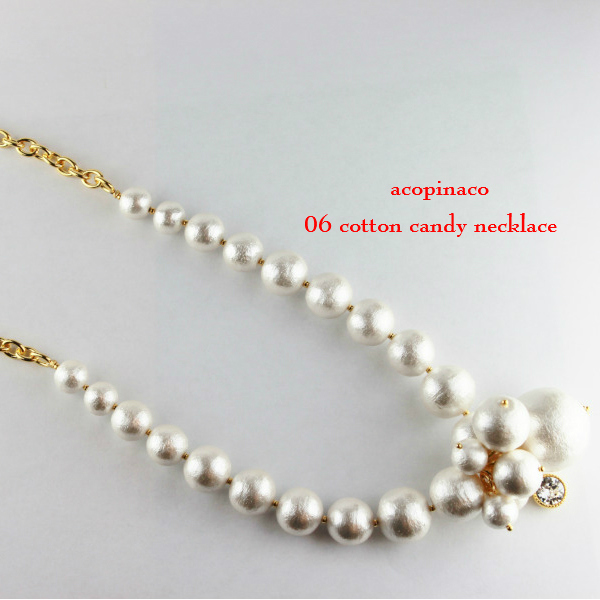 acopinaco 06 cotton candy necklace コットンパール ネックレス アコピナコ