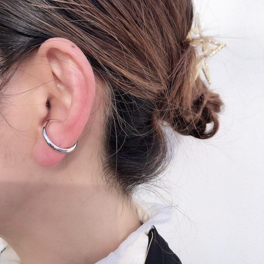 デュー 40 ラウンド イヤーカフ シルバー925,DIEU Round Ear cuffs Silver 925