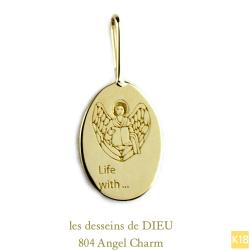 レデッサンドゥデュー 804 エンジェル 華奢チャーム ペンダントトップ 18金,les desseins de DIEU Angel Charm K18