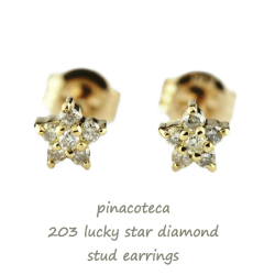 ピナコテーカ 203 ラッキー スター ダイヤモンド 華奢ピアス 18金,pinacoteca Lucky Star Diamond Stud Earrings K18