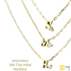 pinacoteca 344 Tiny Initial Necklace K18,ピナコテーカ 極小サイズ タイニー イニシャル 華奢ネックレス 18金