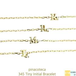 pinacoteca 345 タイニー イニシャル 一粒ダイヤ ブレスレット K18,Tiny Initial Bracelet 18金 ピナコテーカ