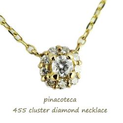 ピナコテーカ 455 クラスター ダイヤモンド 華奢ネックレス 18金,pinacoteca Cluster Diamond Necklace K18