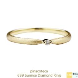 ピナコテーカ 639 一粒ダイヤモンド 華奢リング 18金,スキンジュエリー リング プレゼント ブランド,pinacoteca Ring K18