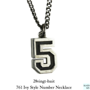 28vingt-huit 761 ナンバー 数字 ネックレス メンズ シルバー,ヴァンユィット Number Ivy Style Necklace Silver Mens