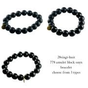 28vingt-huit 778 アミュレット ブラック オニキス ブレスレット,ヴァンユィット Amulet Black Onyx Bracelet Mens