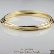 アコピナコ 32 フォーチュン リンク 3連バングル acopinaco Fortune Link Bangle