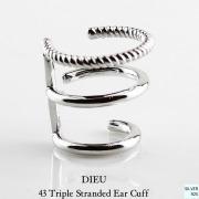 デュー 43 トリプル 3連 イヤーカフ シルバー925,DIEU Triple Stranded Ear Cuff SILVER925