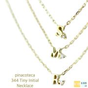 ピナコテーカ 極小 タイニー イニシャル 華奢ネックレス 18金,pinacoteca 344 Tiny Initial Necklace K18