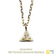 ピナコテーカ 383 ピラミッド ダイヤモンド 華奢ネックレス 18金,pinacoteca Pyramid Diamond Necklace K18