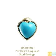 ピナコテーカ 727 ハート ターコイズ スタッド ピアス 18金,pinacoteca Heart Turquoise Stud Earrings K18