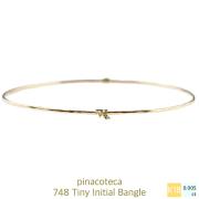 ピナコテーカ 748 タイニー イニシャル バングル 18金,pinacoteca Tiny Initial Bangle K18