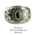 28vingt-huit 232c オーバル リング オニキス メンズ シルバー,ヴァンユィット oval limelight ring black onyx Silver Mens